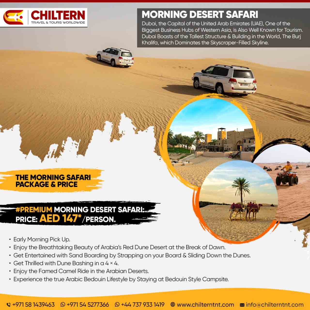 Premium Morning Desert Safari